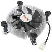 Akasa AK-CCE-7106HP Intel Socket 74mm PWM 3000RPM Low Profile Black Fan CPU Cooler