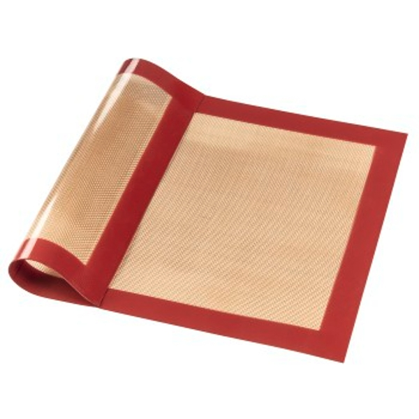 Xavax 00111470 Silicon Baking Mat, Square, 40 x 30 cm | Red/Brown