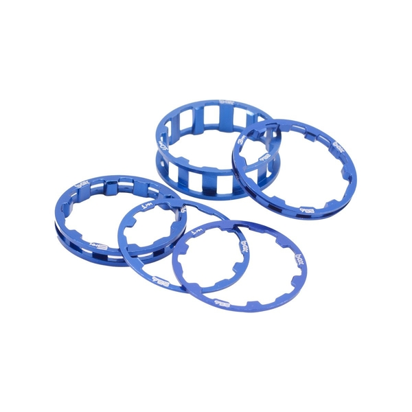 Box Zero Stem Spacer Kit Blue 1 1/8