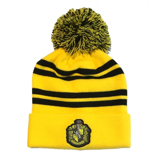 Harry Potter - House Hufflepuff Unisex Beanie Pom - Yellow
