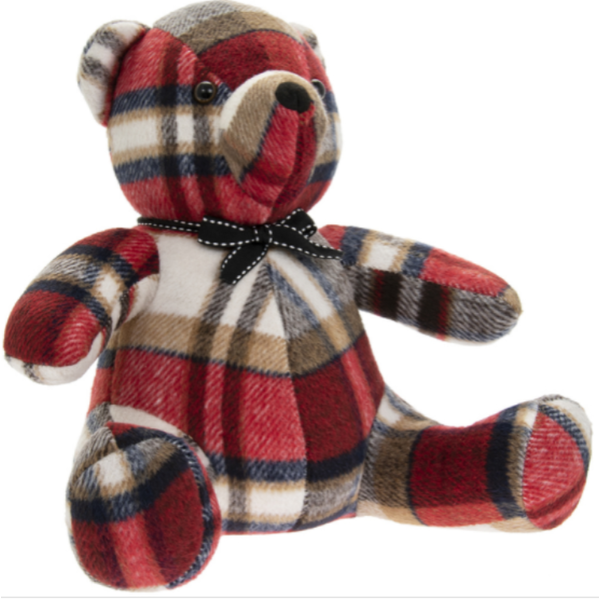 Red Check Teddy Doorstop By Lesser & Pavey