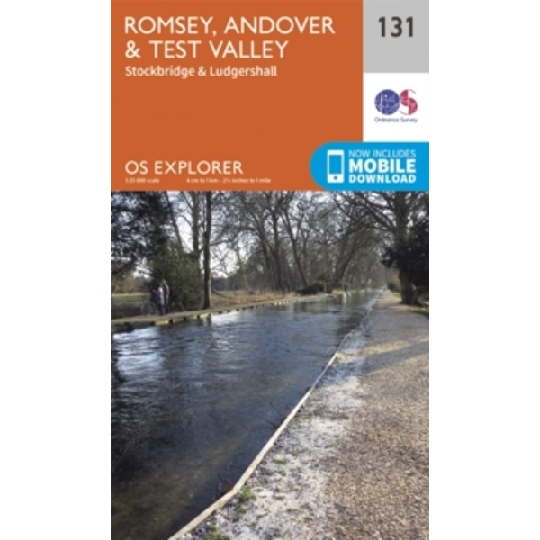 Romsey, Andover and Test Valley by Ordnance Survey (Sheet map, folded, 2015)