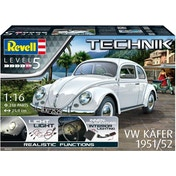 VW Kafer Beetle (Classic Cars) 1:16 Scale Level 5 Revell Technik Model Kit