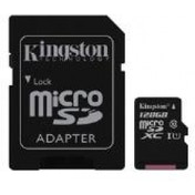 Kingston (128GB) microSDXC Class 10 UHS-I 45MB/s Read Card with Adapter