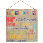 Campervan Rules Wooden Sign