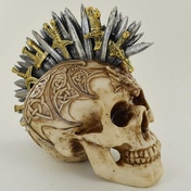 Celtic Patterned Sword Mohawk Skull
