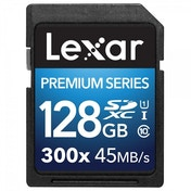 Lexar Premium Series 128 GB Class 10 SDHC 300x Speed Platinum II U1 Memory Card