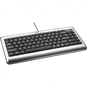 Compact USB Keyboard, Compact 3/4 Keyboard, Built in hot keys, Transpo