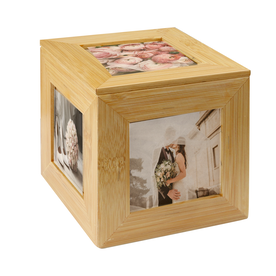 Bamboo Photo Cube | M&W