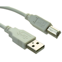 Sandberg USB 2.0 A to B Printer Cable, Male to Male, 2 Metres, Clear Bag Packaging,