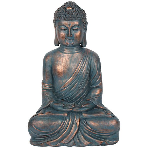 Small Blue Hands in Lap Sitting Buddha