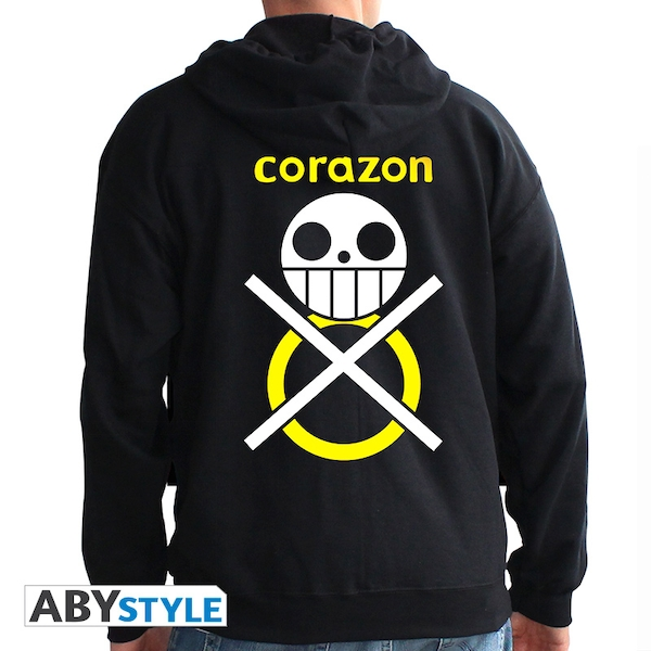 One Piece - Corazon Men's Small Hoodie - Black - Image 1