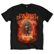 Five Finger Death Punch Mens Tee: Burn in Sin Large Black