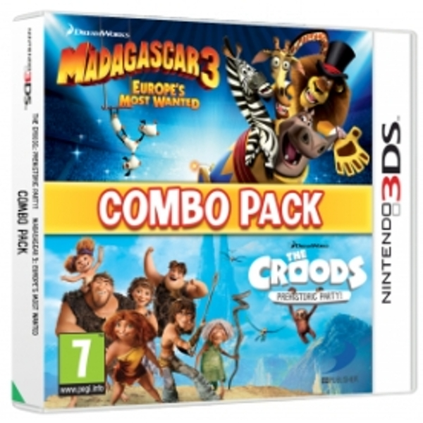 Madagascar 3 & The Croods Double Pack Game 3DS