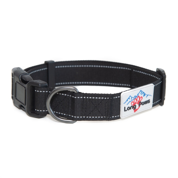 Long Paws Urban Trek Reflective Collar Large Black