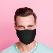 Black Reusable Face Covering - Large