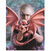 Small Dragon Kin Canvas Picture by Anne Stokes