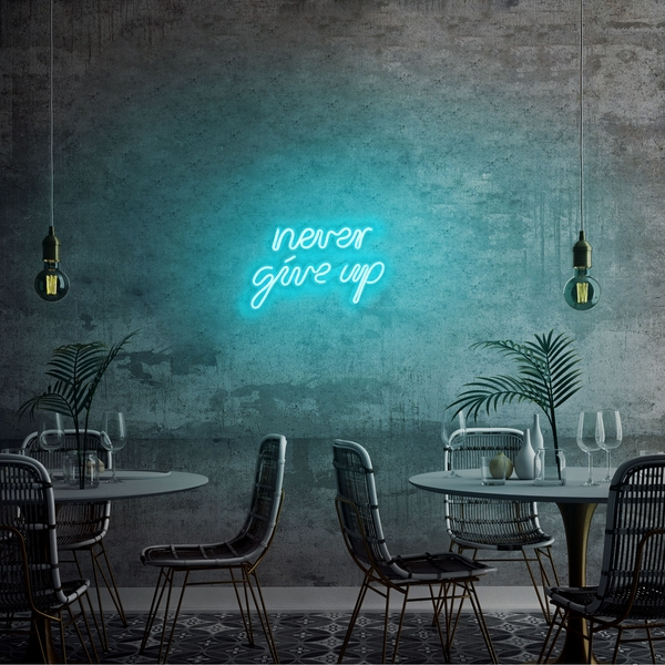 Never Give Up - Blue Blue Wall Lamp
