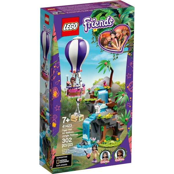 LEGO Friends - Tiger Hot Air Balloon Jungle Rescue Playset