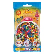 Hama - 1000 Beads in Bag (Solid & Translucent Mix)