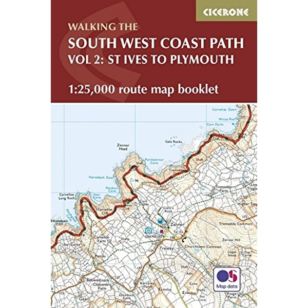 South West Coast Path Map Booklet - St Ives to Plymouth: 1:25,000 OS Route Mapping by Paddy Dillon (Paperback, 2017)