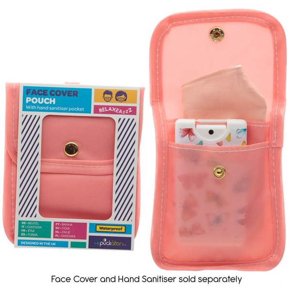 Pink Face Covering & Hand Sanitiser Pouch