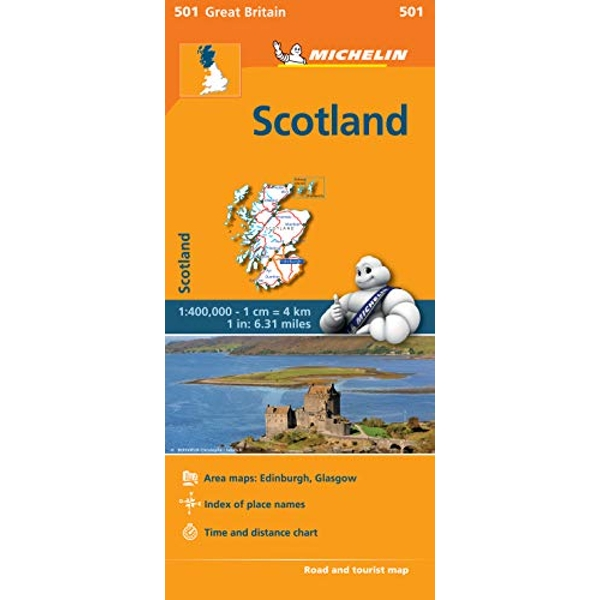 Scotland - Michelin Regional Map 501 Map Sheet map 2013