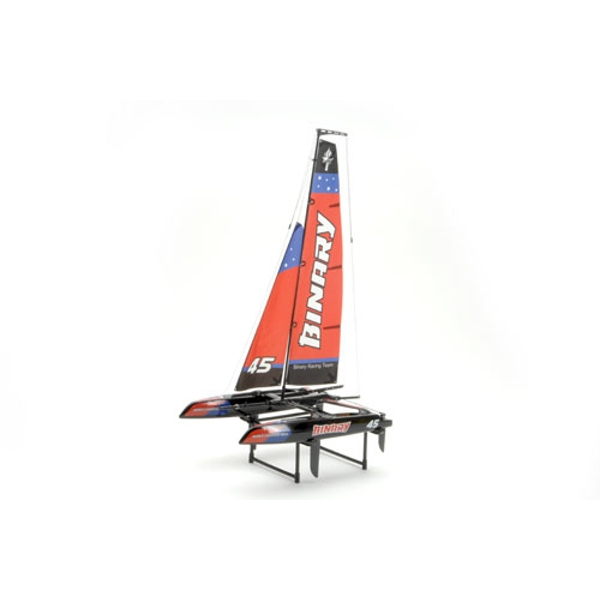Binary Cat. Yacht RTR 2.4GHz - Red (Ripmax) RC Boat - Image 1