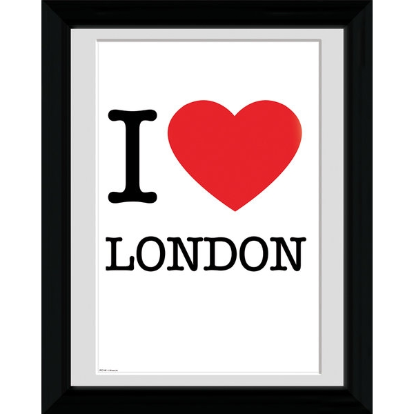 London I Love Framed 16x12 Photographic Print