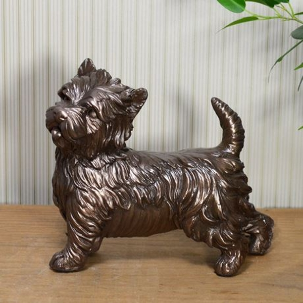West Highland Terrier Cold Cast Bronze Sculpture