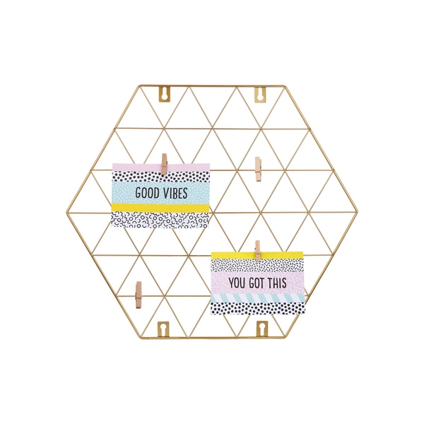Sass & Belle Gold Wire Wall Grid Photo Holder