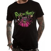 Rick And Morty - Monster Slime Men's X-Large T-Shirt - Black