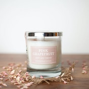 Pink Grapefruit (Pastel Collection) Glass Candle
