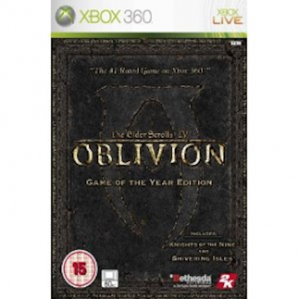 The Elder Scrolls IV Oblivion Game of the Year (GOTY) Game Xbox 360