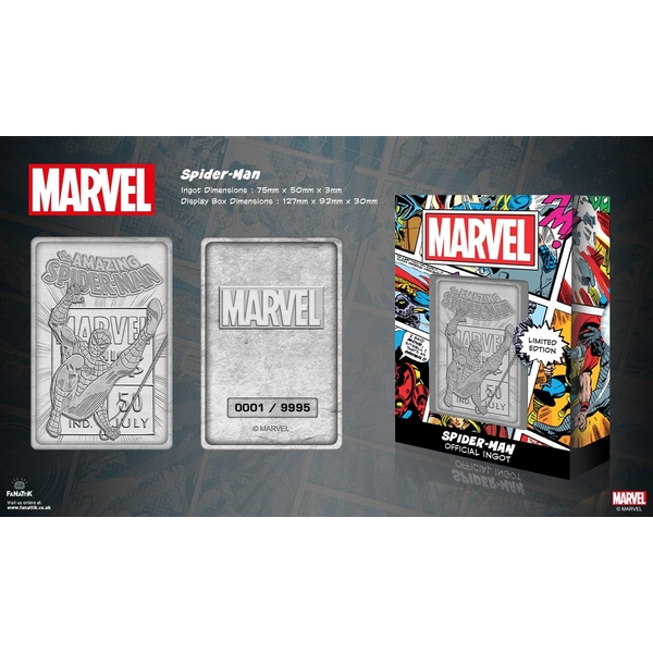 Spider-man (Marvel) Silver Limited Edition Collectable Ingot