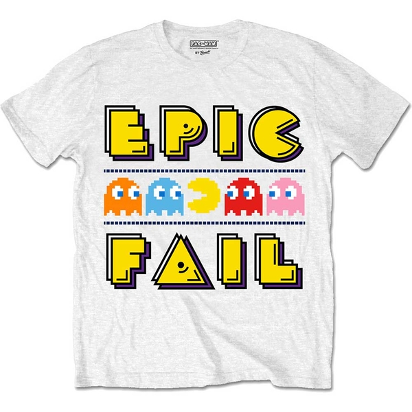 Pac-Man - Epic Fail Unisex Large T-Shirt - White
