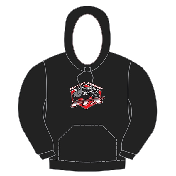 Ftx Badge Logo Brand Pullover Hoodie Black - Medium