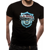 La Guns - Shield Logo Men's Small T-Shirt - Black