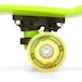 Xootz Kid's Complete Retro Plastic Skateboard with LED Light Up Wheels Yellow - Image 2