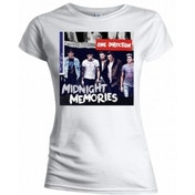 One Direction Midnight Memories White T Shirt Medium