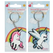 Fun Unicorn Design (Pack Of 6) PVC Keyring