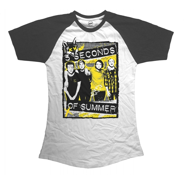 5 Seconds of Summer Splatter Women's Medium T-Shirt - White