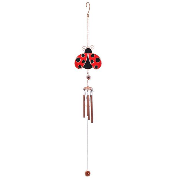 Wings Open Ladybird Meal & Glass Windchime