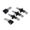 BitFenix Alchemy Molex to 4x SATA Adapter 20 cm Sleeved silver/black