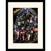 Avengers: Infinity War - Character Coloured Bands Mounted & Framed 30 x 40cm Print