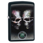 Zippo Anne Stokes Tattoo Skulls Black Regular Windproof Lighter