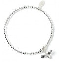 Bumble Bee Charm with Sterling Silver Ball Bead Bracelet
