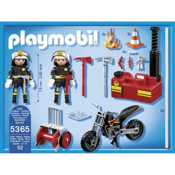 Playmobil City Action Fire Brigade Firefighters with Water Pump - Image 2