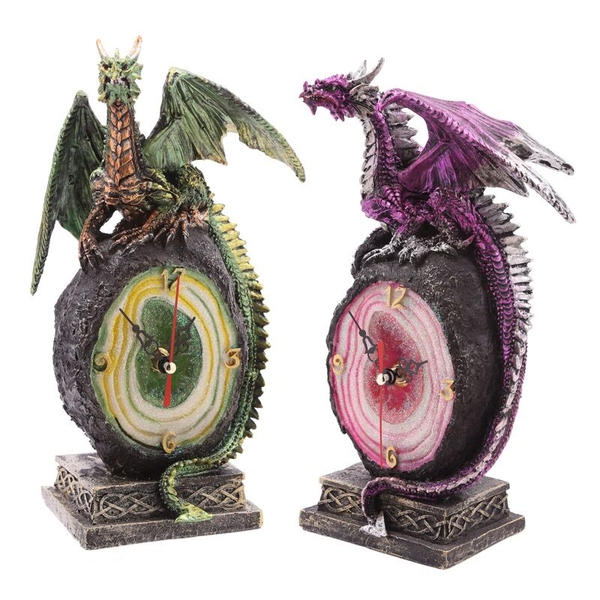Crystal Geode Dark Legends Dragon Clock (1 Random Supplied)
