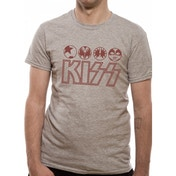 Kiss - Symbols Men's Large T-Shirt - Grey